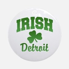 Detroit Irish Ornament (Round)