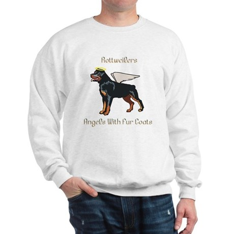 Rottweilers Angels With Fur Coats Sweatshirt