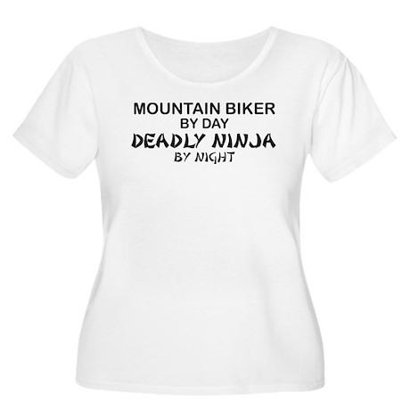 Mountain Biker Deadly Ninja Women's Plus Size Scoo