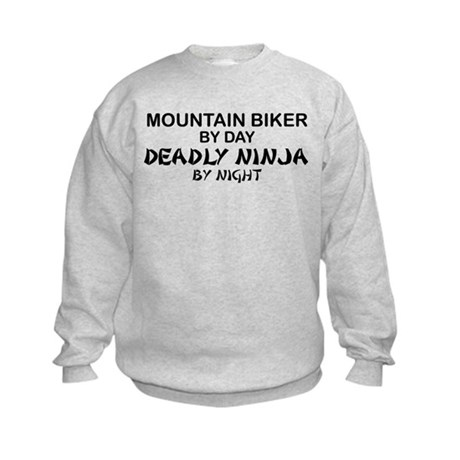 Mountain Biker Deadly Ninja Kids Sweatshirt
