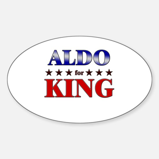 ALDO for king Oval Decal