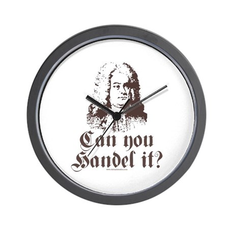 Can You Handel It Wall Clock