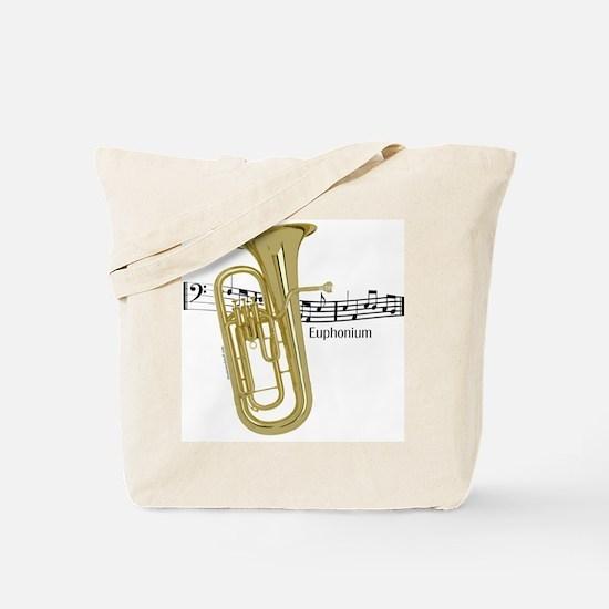 Euphonium Music Tote Bag