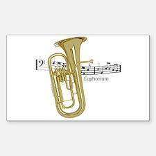 Euphonium Music Rectangle Decal