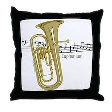 Euphonium Music Throw Pillow
