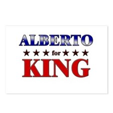 ALBERTO for king Postcards (Package of 8)