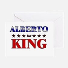 ALBERTO for king Greeting Card