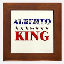 ALBERTO for king Framed Tile