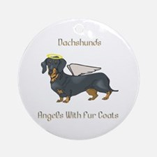 Dachshunds Are Angels With Fur Coats Ornament (Rou