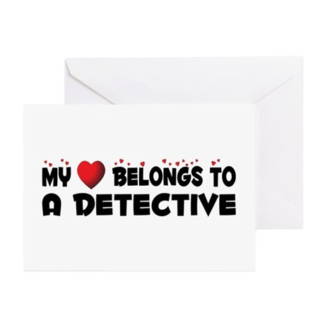 Belongs To A Detective Greeting Cards (Pk of 10)