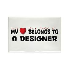Belongs To A Designer Rectangle Magnet