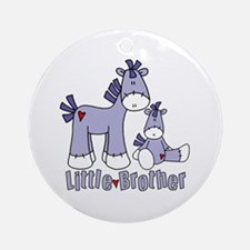 Sock Pony Duo Little Brother Ornament (Round)