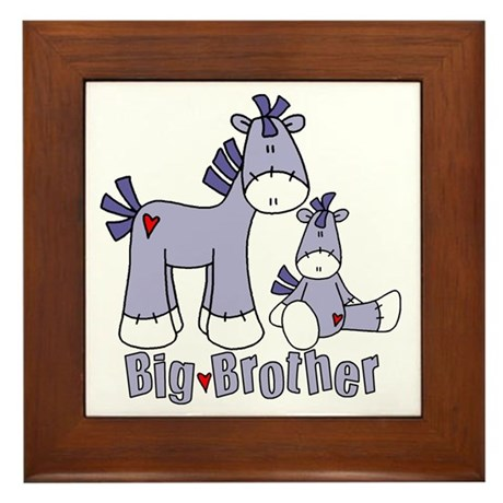 Sock Pony Duo Big Brother Framed Tile