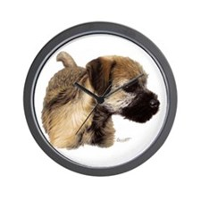Funny Border terrier Wall Clock