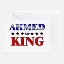 AHMED for king Greeting Card