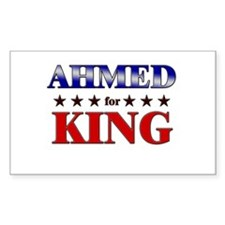 AHMED for king Rectangle Decal