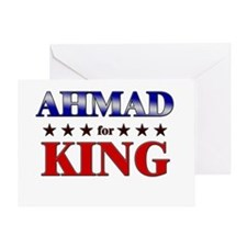 AHMAD for king Greeting Card