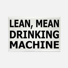 Lean Mean Drinking Machine Rectangle Magnet