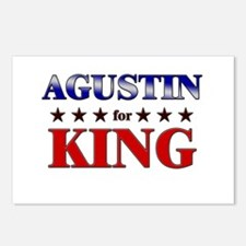 AGUSTIN for king Postcards (Package of 8)