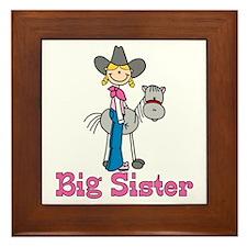 Stick Cowgirl Big Sister Framed Tile