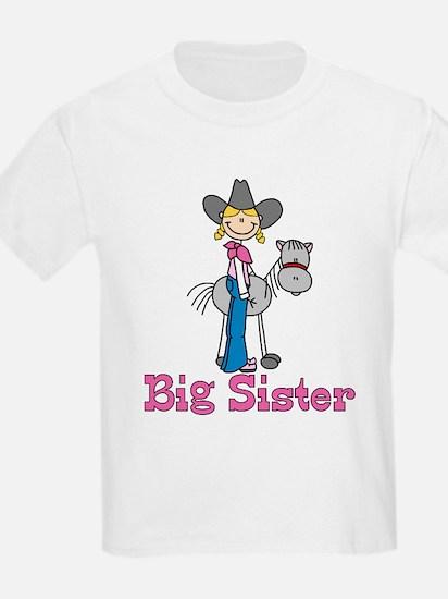 Stick Cowgirl Big Sister T-Shirt