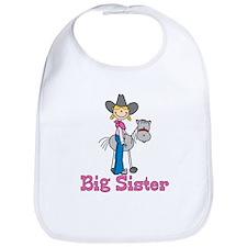 Stick Cowgirl Big Sister Bib