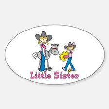 Stick Cowgirls Little Sister Oval Decal