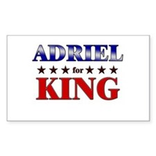 ADRIEL for king Rectangle Decal