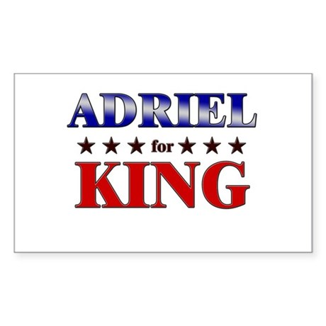 ADRIEL for king Rectangle Sticker