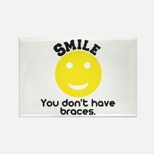 Smile braces Rectangle Magnet