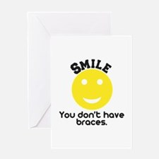Smile braces Greeting Card