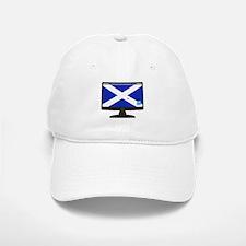 Scottish Computer Screen With On Button Baseball Baseball Cap