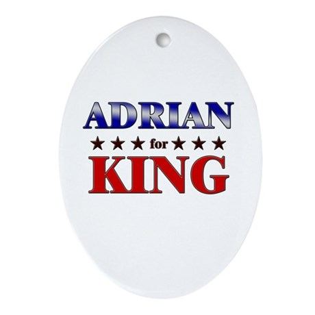 ADRIAN for king Oval Ornament
