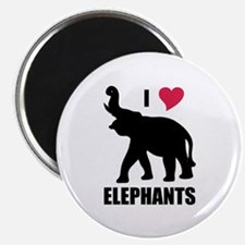 "I Love Elephants 2.25"" Magnet (100 pack)"