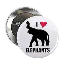 """I Love Elephants 2.25"""" Button"""
