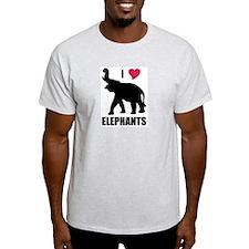 I Love Elephants T-Shirt
