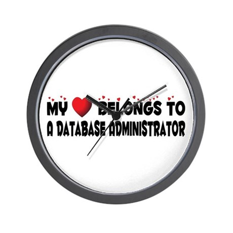 Belongs To A Database Administrator Wall Clock