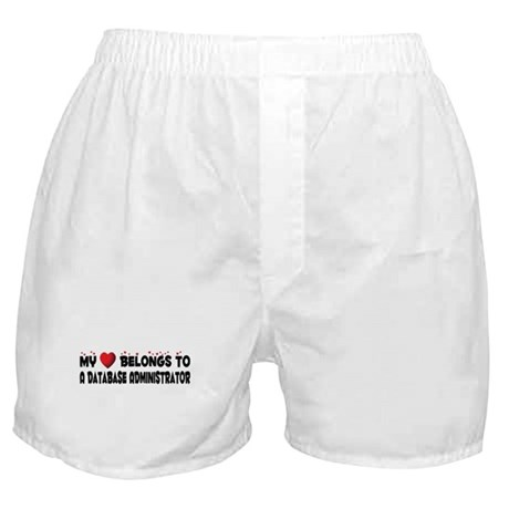 Belongs To A Database Administrator Boxer Shorts