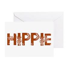 Vintage Hippie Greeting Card