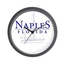 Naples Sailboat - Wall Clock