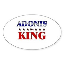 ADONIS for king Oval Decal