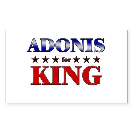 ADONIS for king Rectangle Sticker