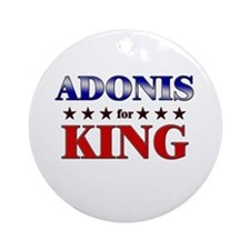 ADONIS for king Ornament (Round)