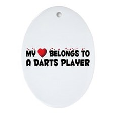 Belongs To A Darts Player Oval Ornament