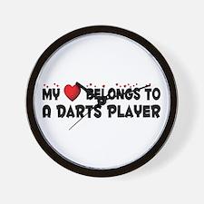 Belongs To A Darts Player Wall Clock