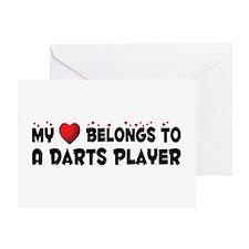 Belongs To A Darts Player Greeting Card