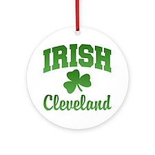 Cleveland Irish Ornament (Round)