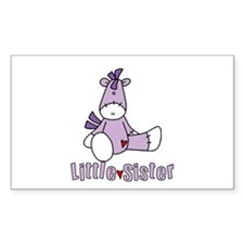 Sock Pony Little Sister Rectangle Decal
