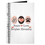 Peace Love Belgian Sheepdog Journal