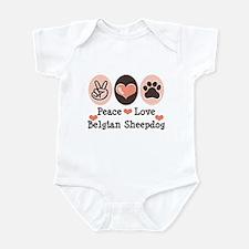 Peace Love Belgian Sheepdog Infant Bodysuit